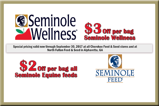 Seminole Horse Feed Specials at North Fulton Feed & Seed in GA