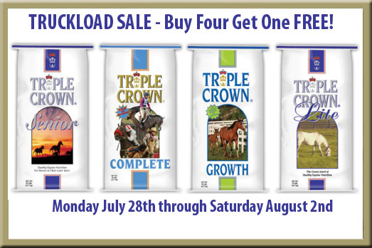 Triple Crown Feed Truckload Sale