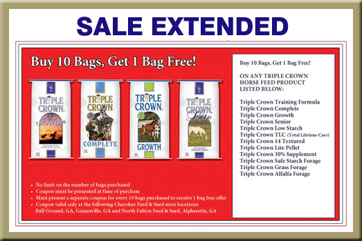 Triple Crown Horse Feed - Buy 10 Get One FREE!