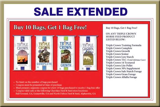 Triple Crown Horse Feed – Buy 10, Get 1 FREE! :: North