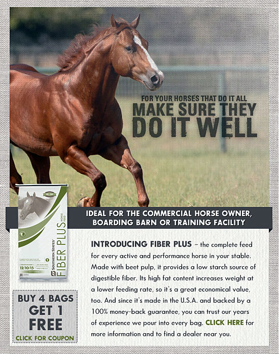 Buy 4 Get 1 Free - Fiber Plus Horse Feed at North Fulton Feed & Seed