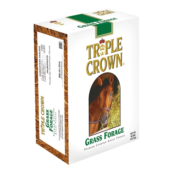 Triple Crown Grass Forage for Horses Chopped 40 lb
