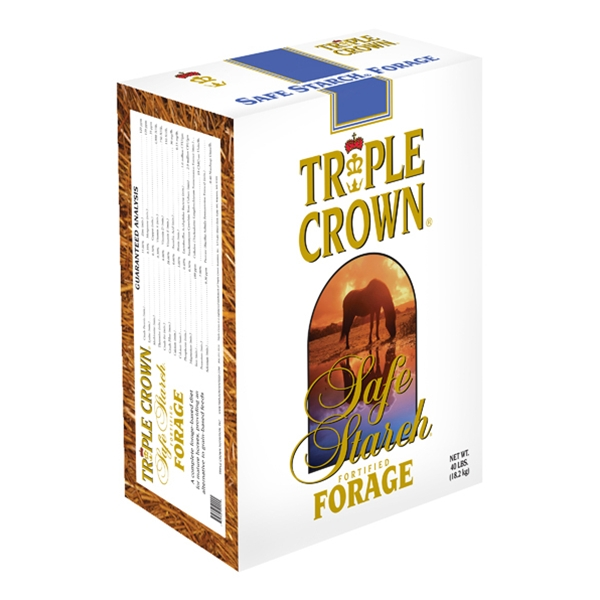 Triple Crown Safe Starch Forage for Horses Chopped 40 lb