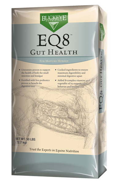 BUCKEYE EQ8 Gut Health Horse Feed