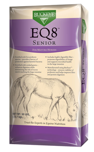 BUCKEYE EQ8 Senior Horse Feed