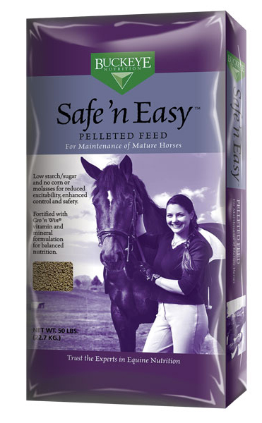 BUCKEYE Safe 'n Easy Pelleted Horse Feed