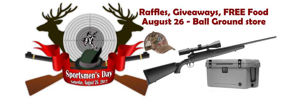 Sportsmen's Day - Sales, Raffles and Giveaways