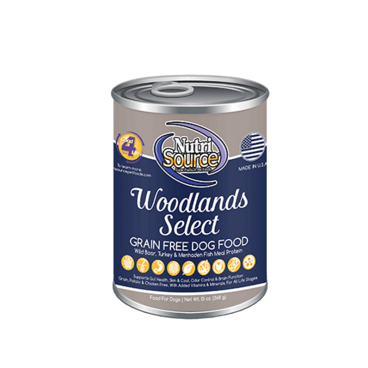 NutriSource Woodlands Select Grain Free Canned Dog Food