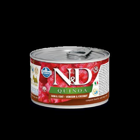 Farmina N&D Quinoa Dog Skin & Coat Venison & Coconut Recipe