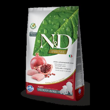 Farmina N&D Prime Chicken and Pomegranate Puppy Medium & Maxi Recipe