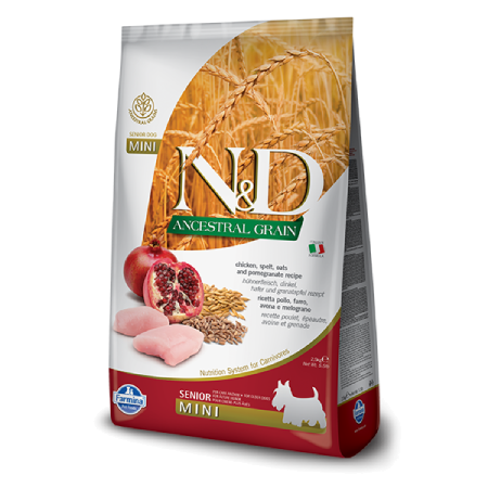 Farmina N&D Ancestral Grain: Chicken Pomegranate Senior Mini