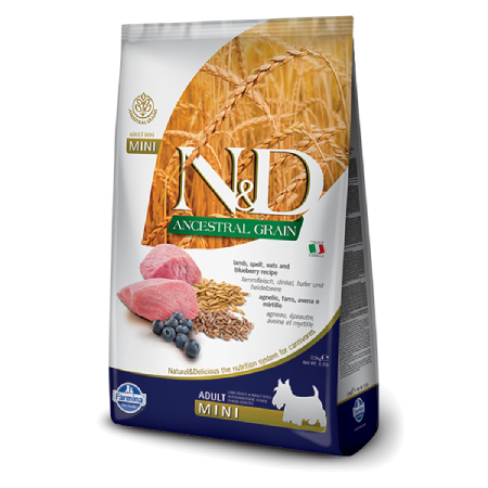 Farmina N&D Ancestral Grain: Lamb Blueberry Adult Mini