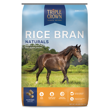 Triple Crown Naturals Rice Bran Horse Supplement 40-lb Bag